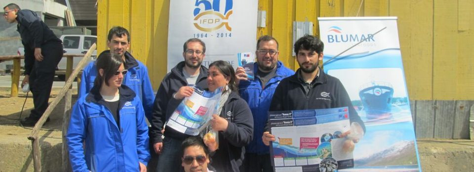 Workers of IFOP Talcahuano participate as volunteers in cleaning beaches