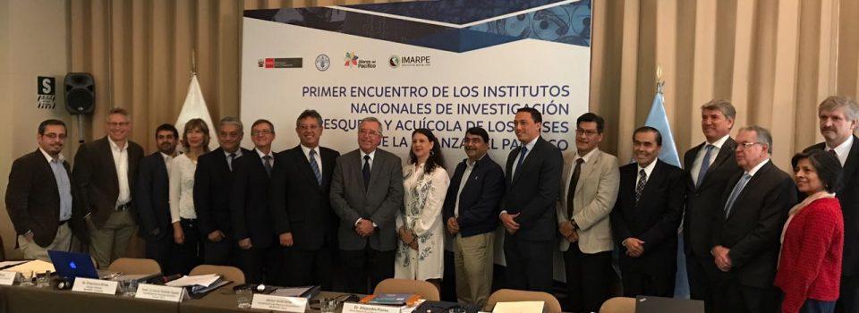 Primer encuentro de institutos nacionales de investigación pesquera y acuícola Alianza Pacífico