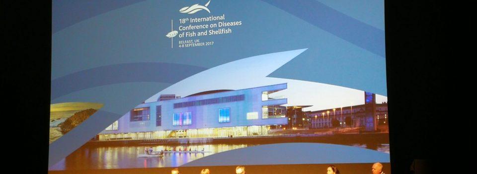 Investigadores Chilenos en 18ª Conferencia Internacional sobre Enfermedades de Peces y Mariscos realizada en Irlanda del Norte