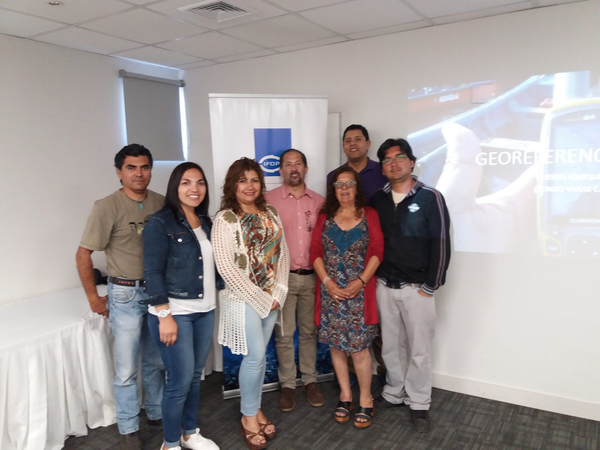 Iquique hosted sampling of benthic fisheries coordination in the north of the country
