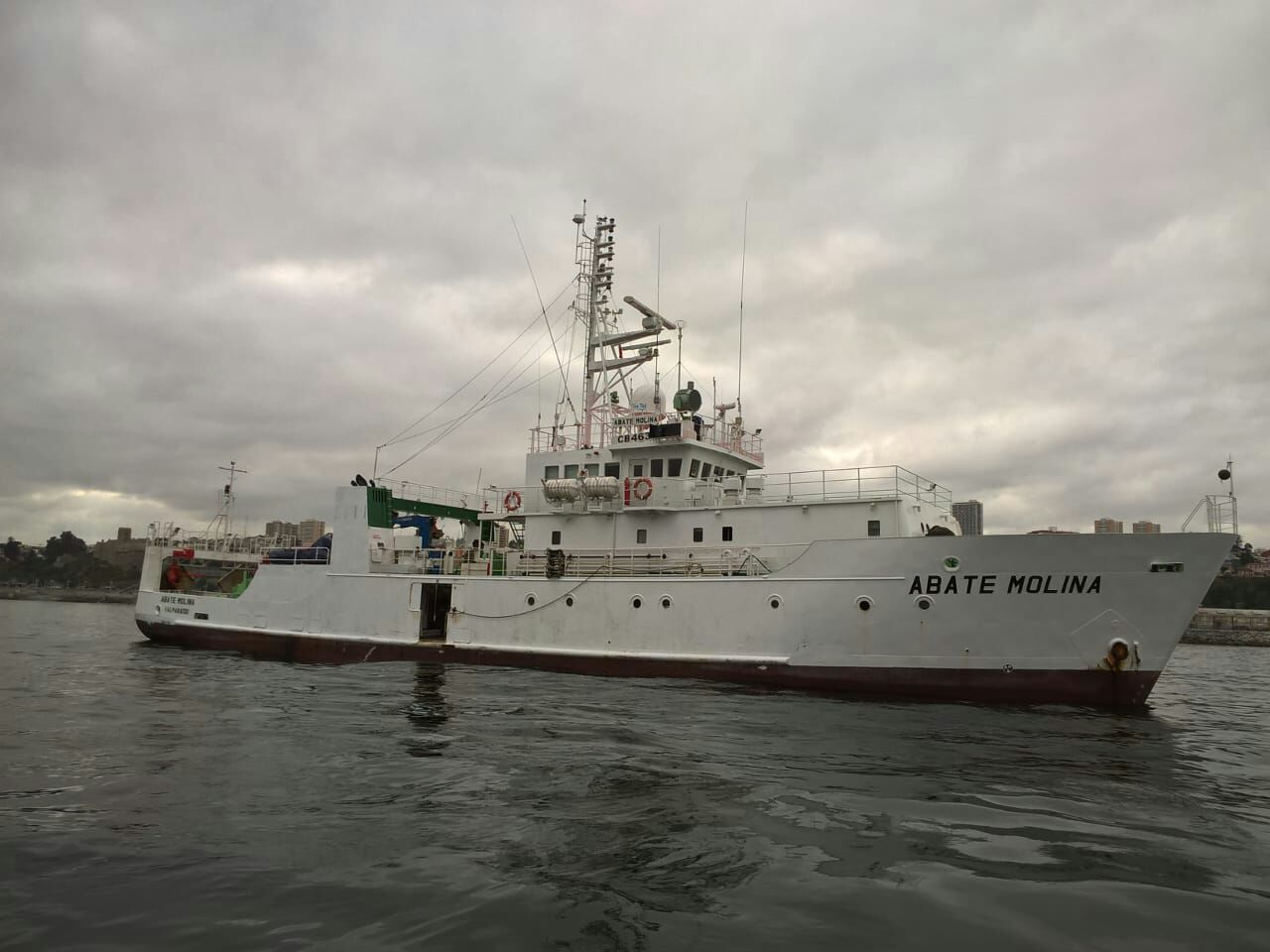Scientific vessel Abate Molina sailed to investigate  anchovy and common sardine