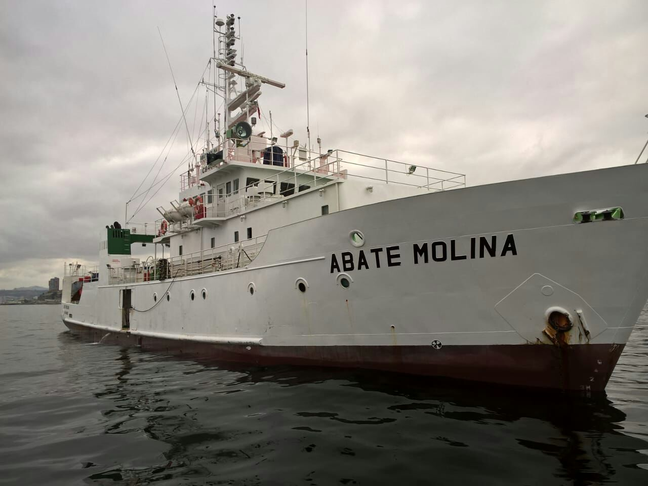 Abate Molina set sail to investigate anchoveta current state