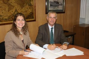 Francisca Tondreau, NGO The Nature Conservancy (TNC) program director in Chile and Luis Parot, IFOP executive director.