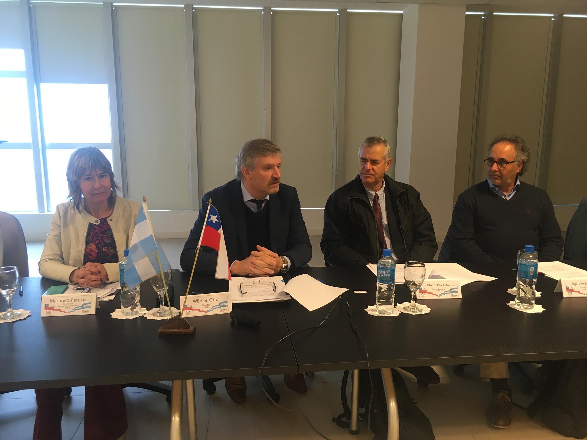 Argentina y Chile promueven y fortalecen vínculos científicos en el INIDEP