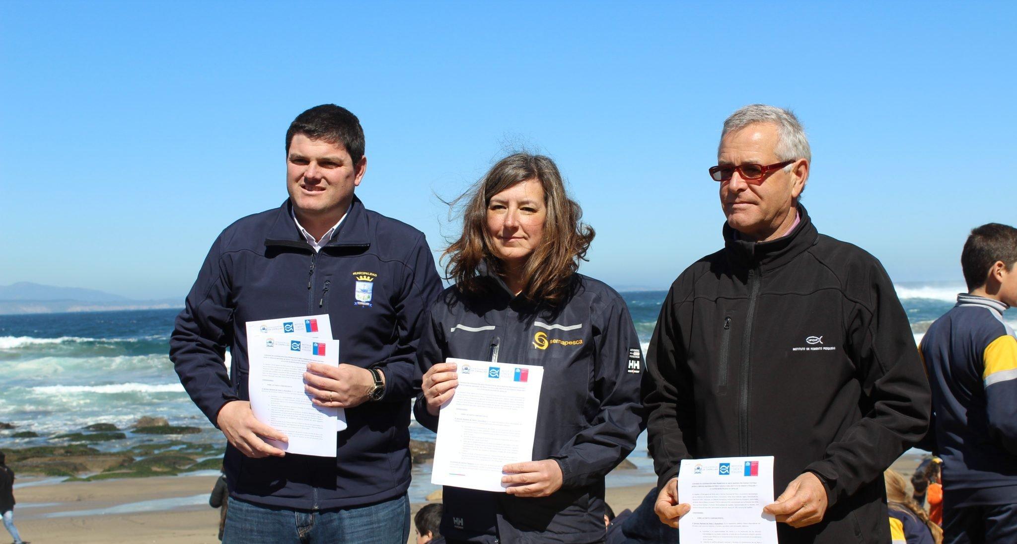 IFOP firma Convenio de Cooperación para la promoción de áreas marinas protegidas con Sernapesca y Municipalidad de Zapallar