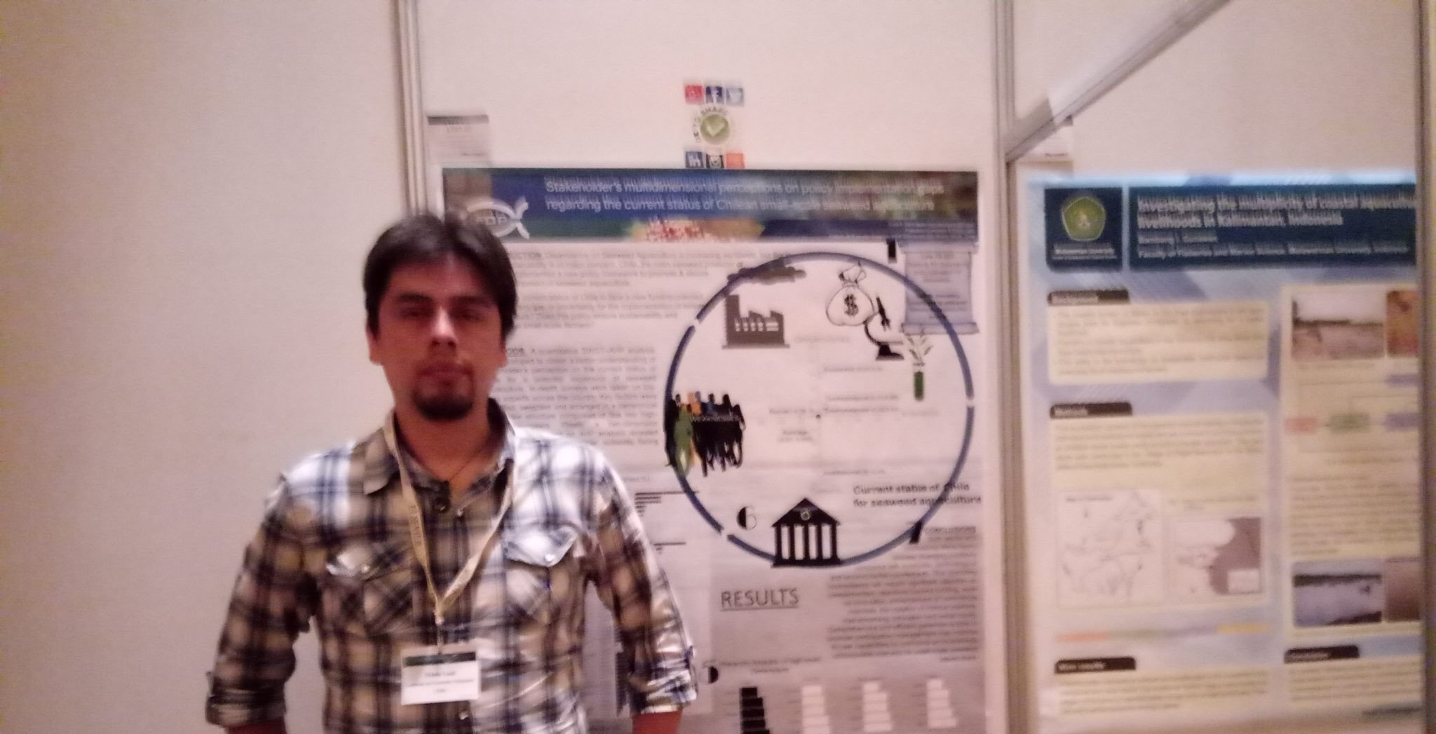 Dr. Pablo Leal from IFOP presented his research at an international aquaculture conference in China