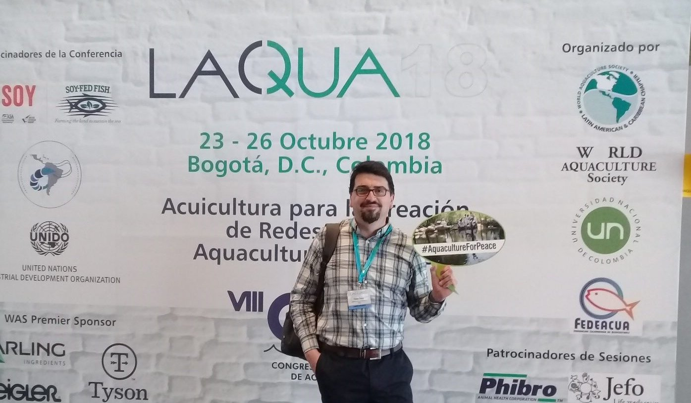 IFOP researcher presented work at Aquaculture International Congress  in Colombia