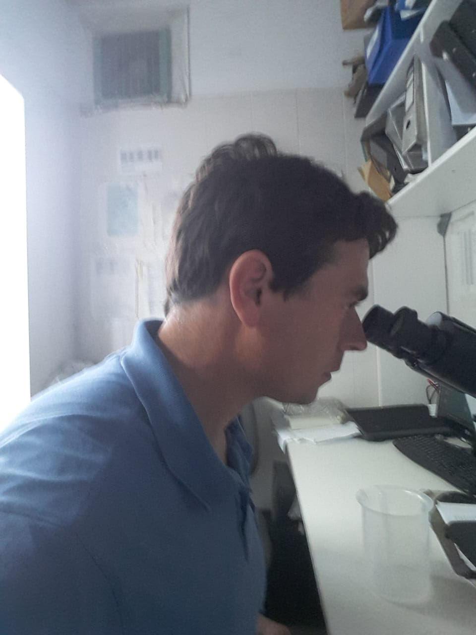 Argentine scientist has a  Fisheries Development Institute internship