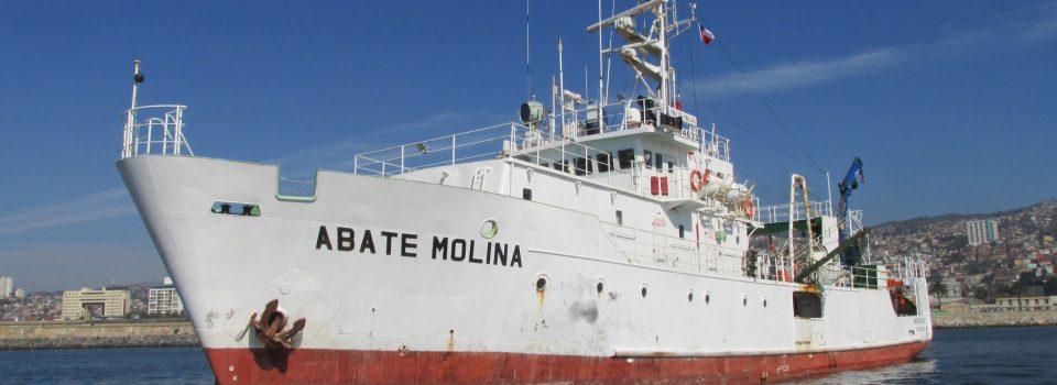 Buque Científico Abate Molina zarpa a evaluar las Condiciones bio-oceanográficas y evaluación del stock desovante de anchoveta