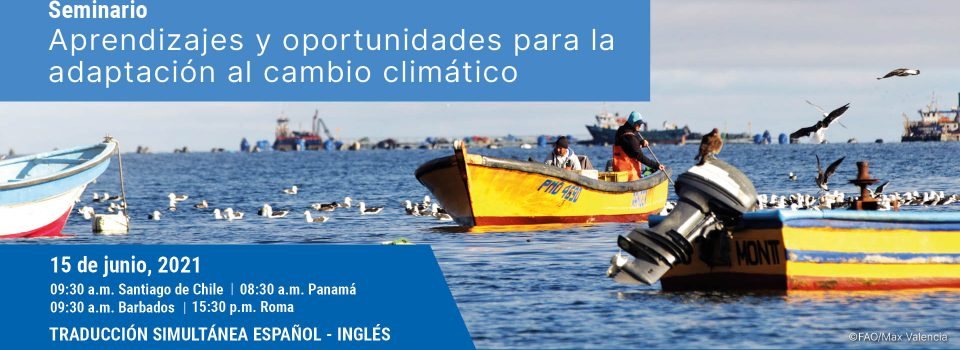 Climatic change adaptation in the Chilean fishing and aquaculture sector analysis will be adressed on Virtual Seminar