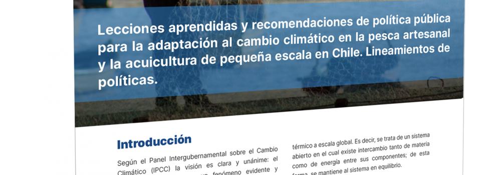Lecciones aprendidas y políticas públicas para la adaptación al cambio climático en la pesca artesanal